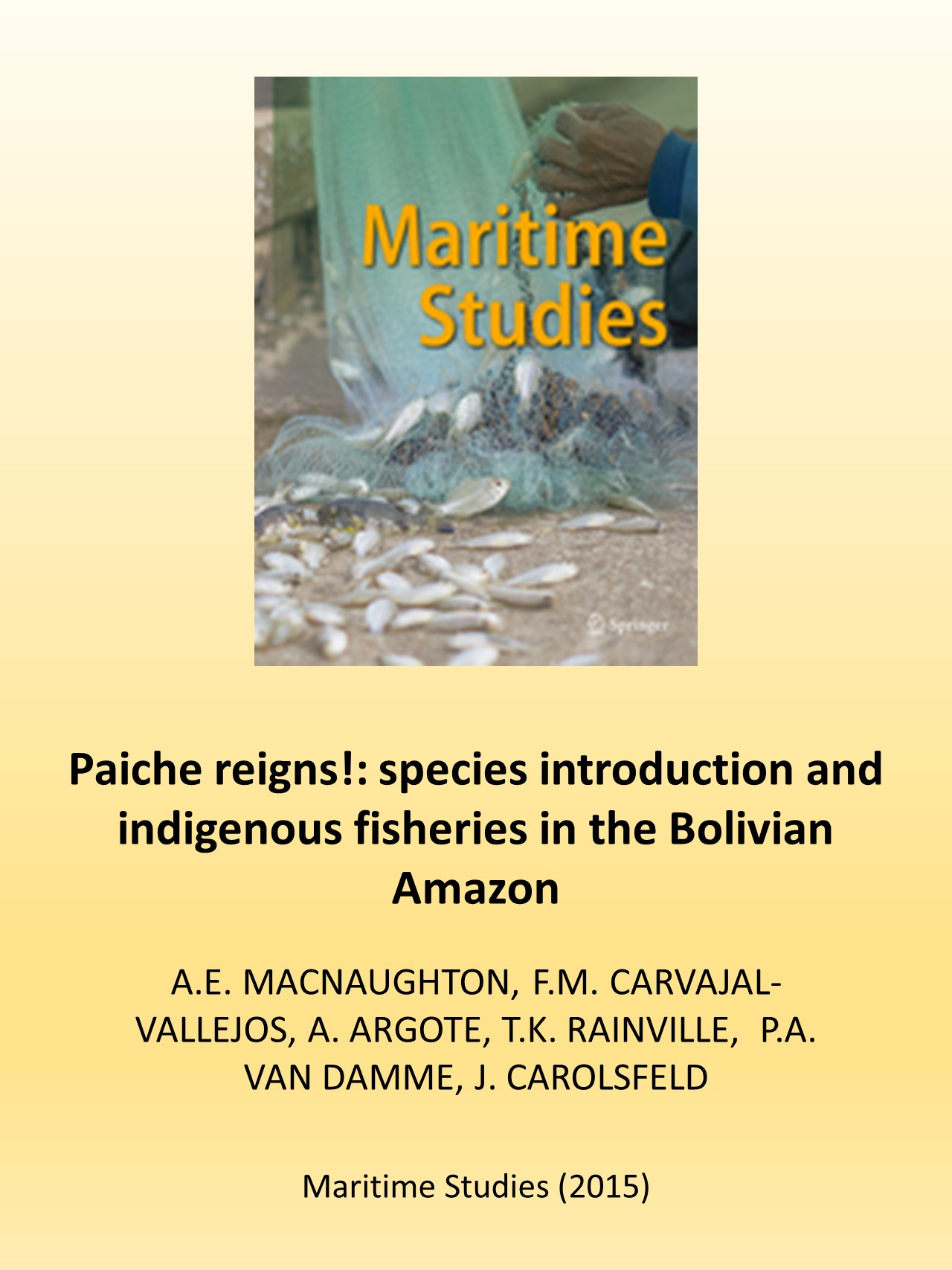 """Paiche reigns!"" species introduction and indigenous fisheries in the Bolivian Amazon"